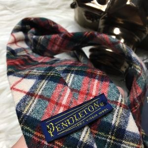 PENDLETON Plaid Vintage Virgin Wool Men's Necktie